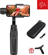 MOZA MINI MI 3-Axis Gimbal Stabilizer for Smartphone,Wireless Phone Charging Multiple Subjects Detection Inception Mode Timelapse for iPhone X/8/7/7 Plus/6/6 Plus,Samsung Galaxy S8+/S8/S7