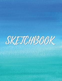 Sketchbook: Blank Pages with Frame - Soft Light Blue Sky Cover