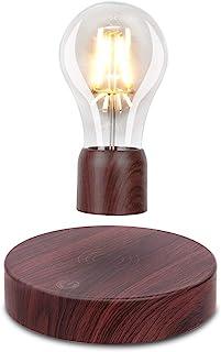 VGAzer Magnetic Levitating Floating Wireless LED Light Bulb Desk Lamp for Unique Gifts, Room Decor, Night Light, Home Offi...