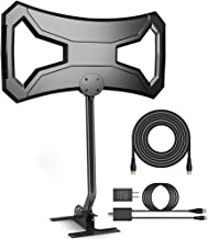 Outdoor HDTV Antenna 150-180 Miles Range- AntennaWorld TV Antenna Omni-Directional with Pole Mount for 4K FM/VHF/UHF Free Channels Digital Antenna 33ft RG-6 Copper Cable