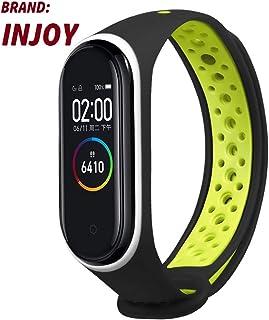 injoy Bracelet Wrist Strap for mi band 4, Sport Replacement Wrist Strap Watch Band Xiaomi Mi band 4 Bracelet black&green