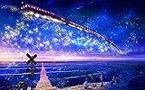 SuperPower 1000 piezas Romántico Galaxia Ferrocarril Entrenar Estrellas Mar Pareja Amantes Noche Adultos Juegos Puzzles de madera para Familia Marco de fotos Decoración de pared