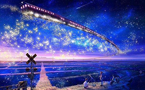 SuperPower® 1000 piezas Romántico Galaxia Ferrocarril Entrenar Estrellas Mar Pareja Amantes Noche Adultos Juegos Puzzles de madera para Familia Marco de fotos Decoración de pared