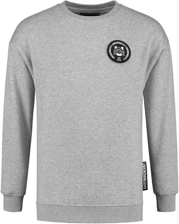 Unknown Army Grenade Men's Crewneck Sweater Heather GreyOrganic Cotton