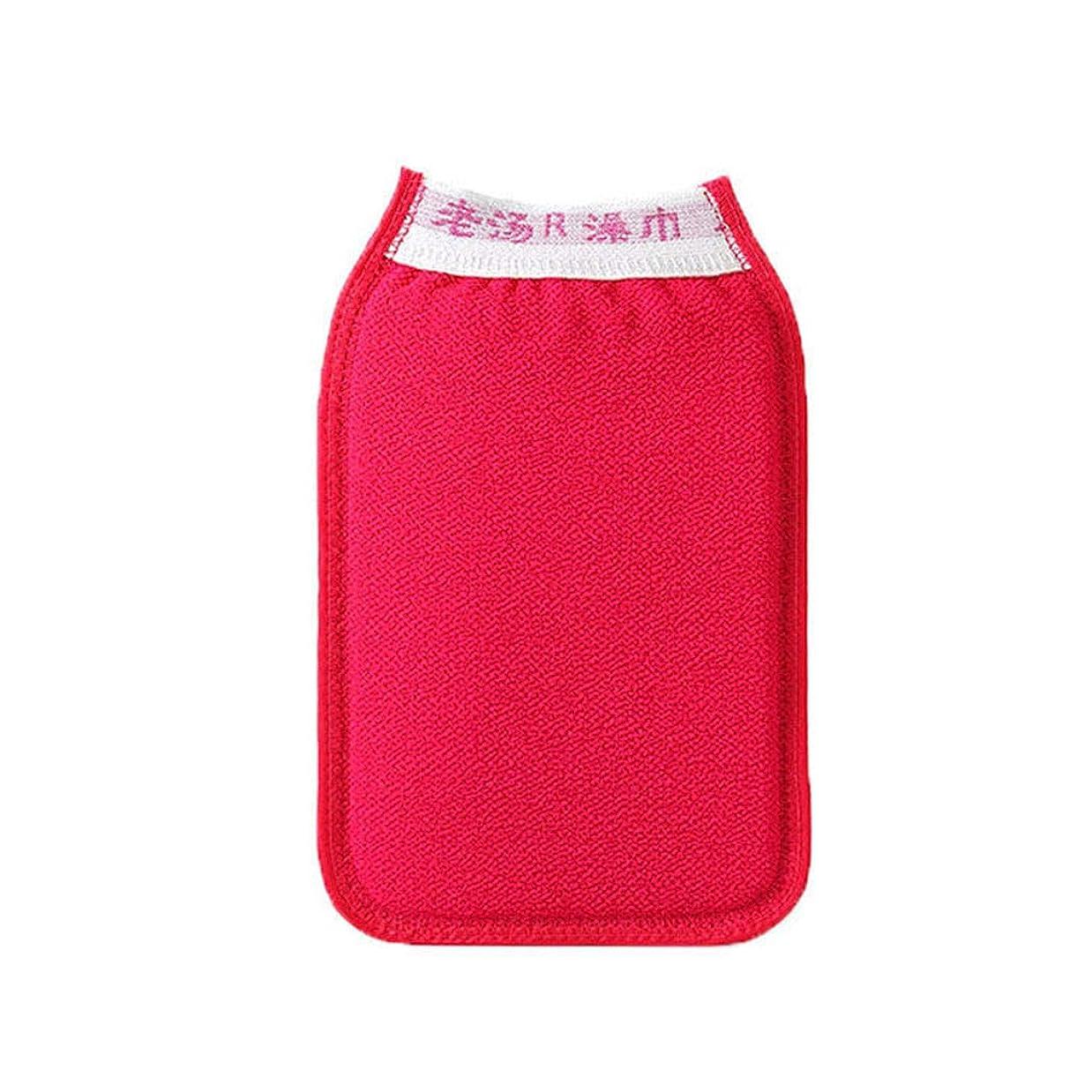 尾チロセクションDavine 紫金の香りのバスタオルタイトな二重層の肥厚無料入浴手袋強い灰灰泥繊維 (01)