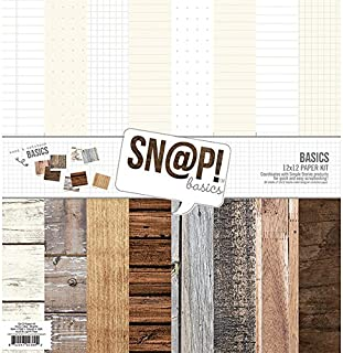 Simple Stories Snatp! Wood Grain Basics Paper Kit