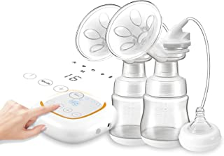 Smart Breast Pump, Quiet Double Electric Breastpump, Hands-Free & Portable, Rechargeable, with 4 Mode & 16 Levels