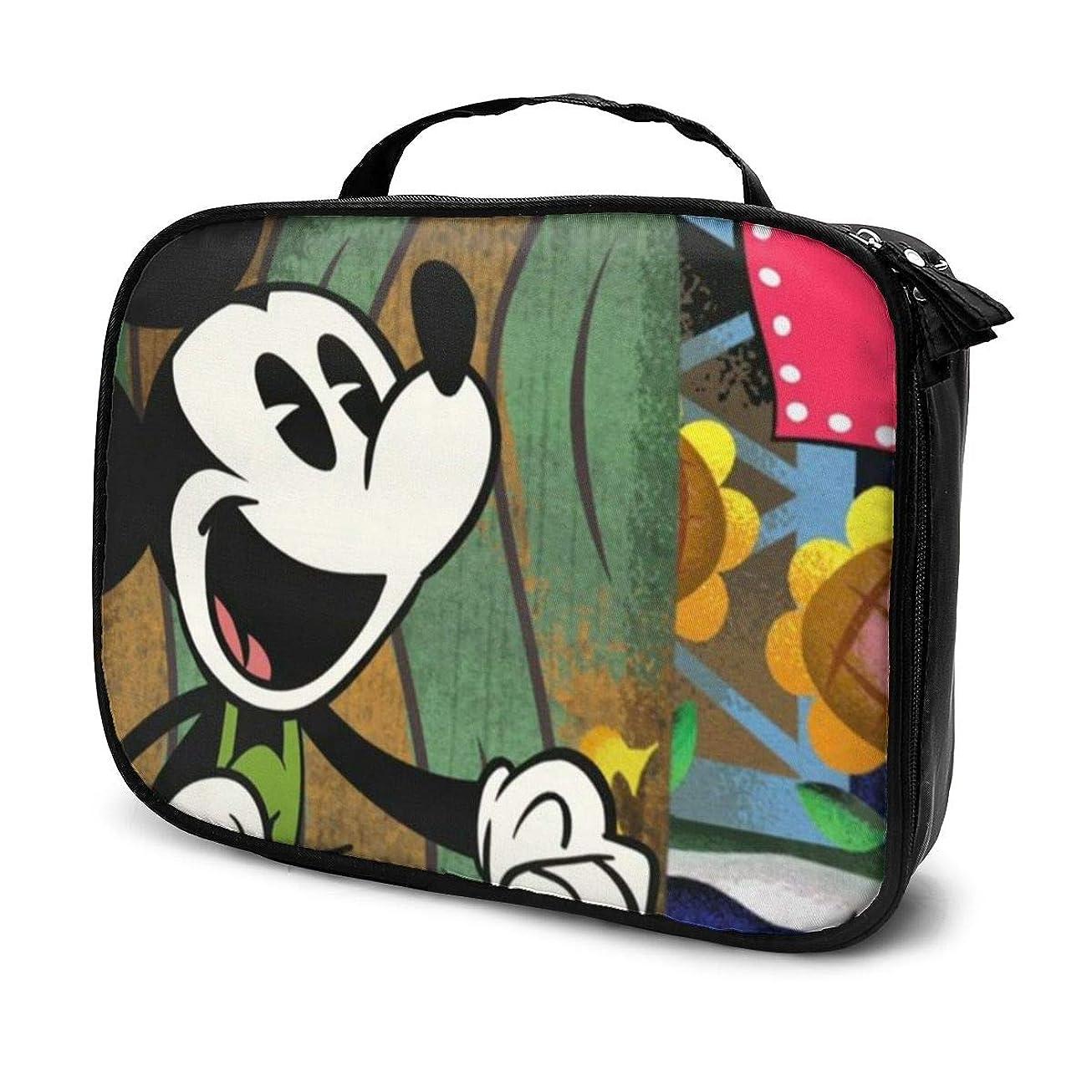アーカイブ喉が渇いた注ぎますDaituミッキーマウスハート 化粧品袋の女性旅行バッグ収納大容量防水アクセサリー旅行