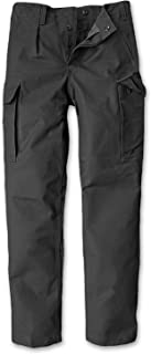 CI Germany German Army Bundeswehr Security Moleskin Black Cargo Pants Trousers 100% Cotton