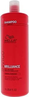 Wella INVIGO Brilliance Shampoo for Fine/Normal Hair - 33.8oz Liter