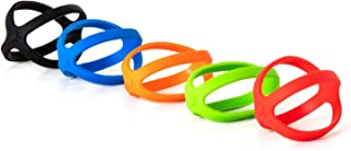 Grifiti Band Joes X + Cross Style 3 Inch 5 Pack Long Lasting Silicone Bands Cooking Grade Hot Cold UV Chemical Resistant for Slim Wallet, Cards, Game Cards, Jewery Boxes, Small Wraps
