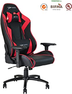 Ewin Gaming Chair 4D Adjustable Armrests Memory Foam Ergonomic High Back PU Leather Racing Computer Chair Champion Series Red