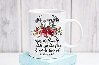 Firefighter Wife Hat Prayer Coffee Mug Fireman Family Scripture Cup