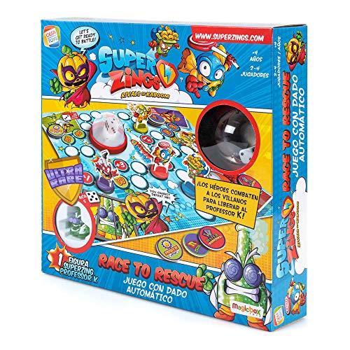 SuperZings- Professor K Juego de Mesa – Race to Rescue-Castellano (CEF21651), Multicolor (Cefa Toys 21651) , color/modelo surtido