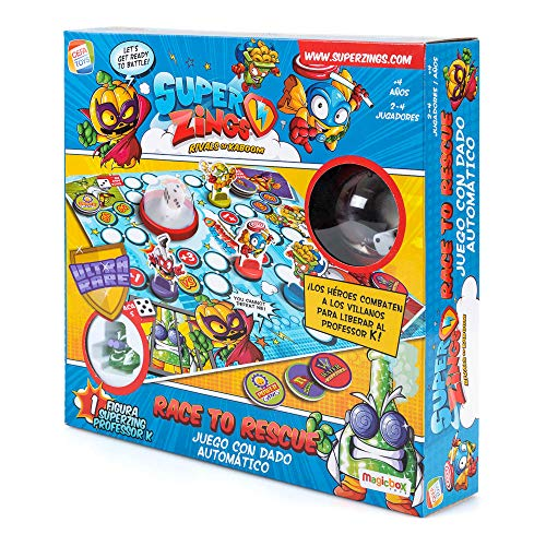 SuperZings- Professor K Juego de Mesa – Race to Rescue-Castellano (CEF21651), Multicolor...