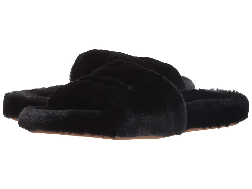 Kate Spade New York Thalia (Black Faux Rabbit Fur) Women