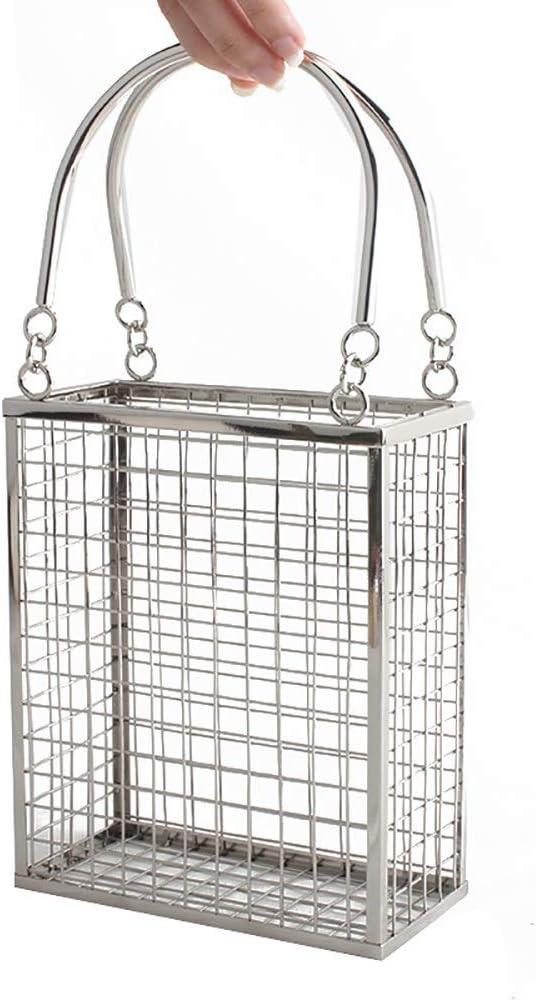 It is very popular Evening Bags Metal Creative Handbag Rectangular Discount mail order Hollow Shoulder