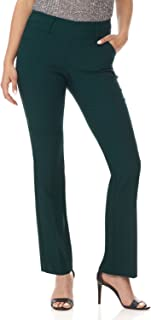 Rekucci Women's Ease in to Comfort Fit Classic Bootcut Pant w/Tummy Control