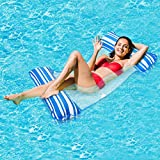 Gogowin フロート 大人用 浮き輪 水上ハンモック 132CM*71CM 浮き輪ベッド ビーチボード 強い浮力 アクアラウンジ 夏対策 海遊び 水遊び プール 海水浴 メッシュ素材