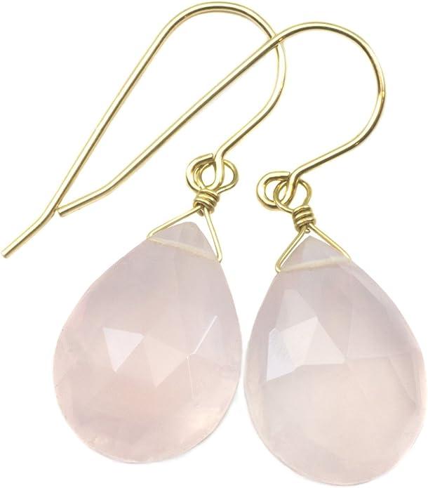 Rose Pink Quartz Faceted Pear Shape Briolettes 14x10 MM 5 Pairs