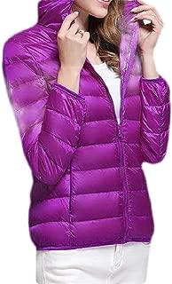 Macondoo Women's Packable Casual Hooded Puffer Lightweight Down Jackets Coat