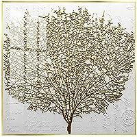 キャンバスの壁の装飾のポスターに印刷し、壁の芸術のキャンバスの絵画を印刷しますリビングルームの抽象的な黄金の木の写真30 x 30 cm(11.8 x 11.8インチ)フレームなし