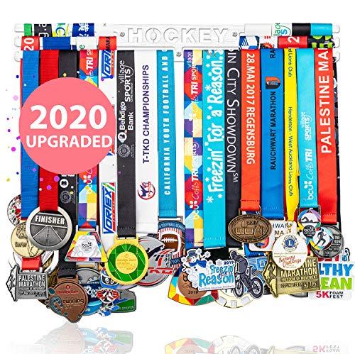 Miayork Hockey-Medaillenhalter, Präsentationsaufhänger, Wandhalterung, einfach zu installieren, Rennläufer, Medaillenrahmen, einfache Aufhänger, Haken, 3 Linien, Hockey