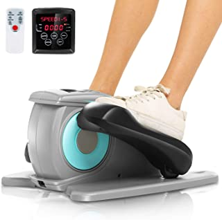 Desk Electric Elliptical Machine Trainer,Under Desk Bike Pedal Exerciser,Mini Cycle Exercise Bike for Leg Pedder Portable with Display Monitor, Quiet & Compact.