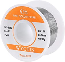 WYCTIN Diameter 0.6mm 100g 60/40 Active Solder Wire With Resin Core for Electrical Repair Soldering Purpose