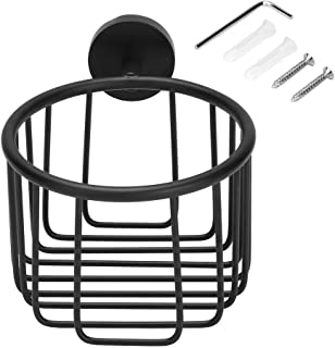 VGGV Toilet Paper Basket - Wall Mounted Toilet Paper Holder Basket Roll Tissue Holder Home Hotel Bathroom Accessories