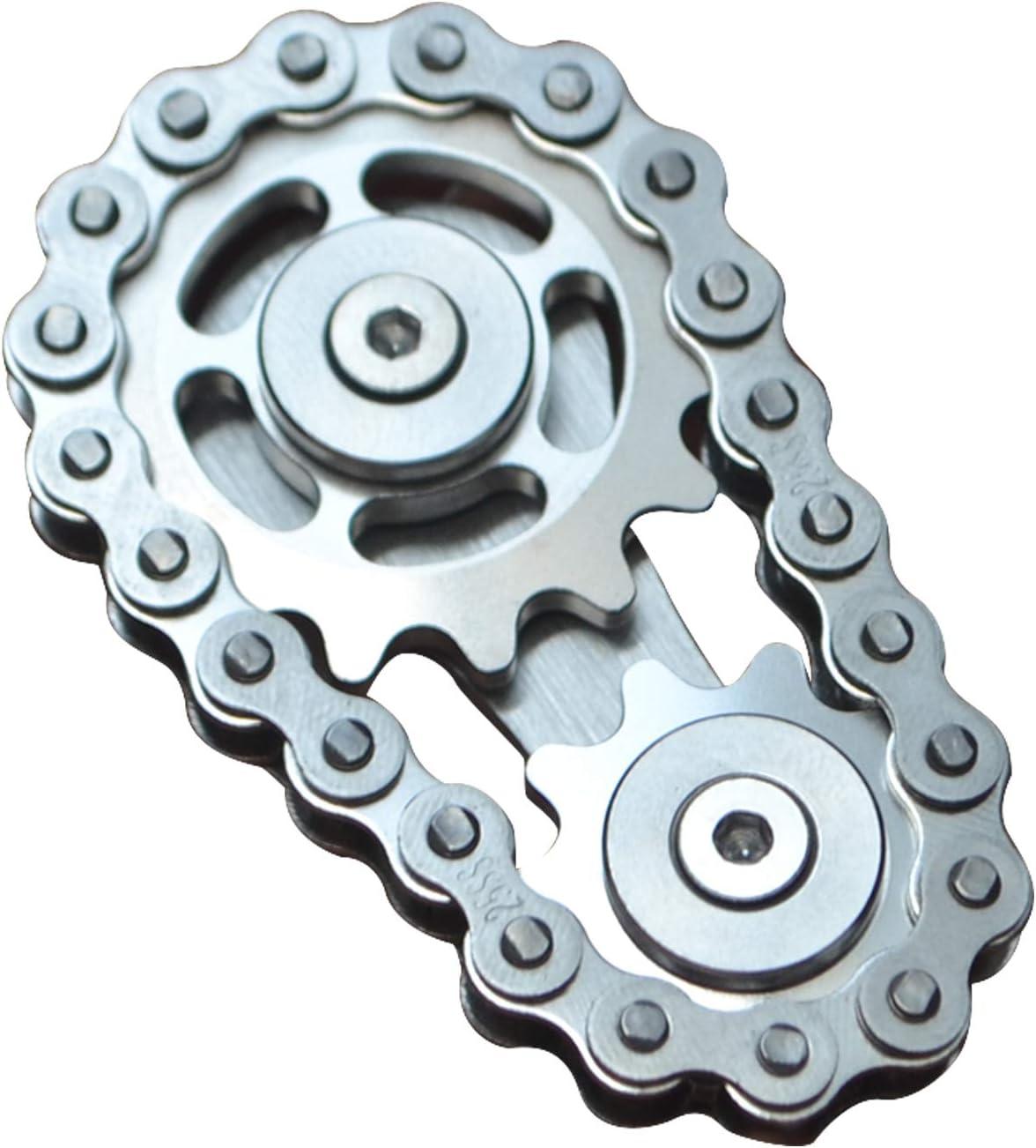 COOLCT Bike Chain Gear Fidget Spinner, Double Gears Figity Spin