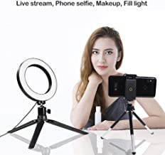 Uonlytech Selfie Light Rin - Anillo Luminoso Adicional 4 en 1 para vídeo y Maquillaje en Youtube (Anillo Luminoso de 16 cm)