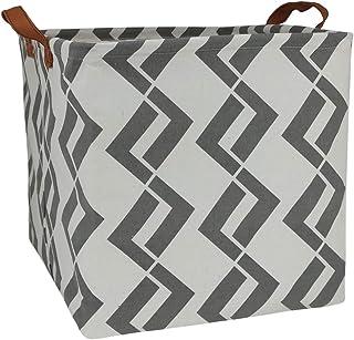 ASKETAM Square Canvas Fabric Storage Boxes,Collapsible Storage Baskets,Canvas Toy Organizer,Shelf Basket,Baby Nursery,Gift...