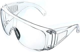 NASUM Plegable Gafas Protectoras, Gafas de Seguridad, Gafas a Prueba de Polvo, para Uso Industrial, Agrícola o de Laboratorio (1 Par)
