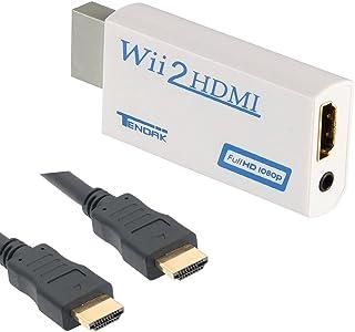 Thlevel Wii a HDMI Adaptador, Conversor de Wii a HDMI 720P/1080P con Cable HDMI con Puerto HDMI y Jack 3.5mm – Soporta Tod...