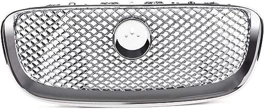 VRracing 1PCS Chrome Upper Mesh Grill Radiator Grille For Jaguar XF XFR 4 Door 2012 2013 2014 2015