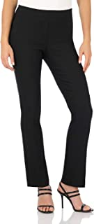 Rekucci Women's Ease Into Comfort Straight Leg Pant with...