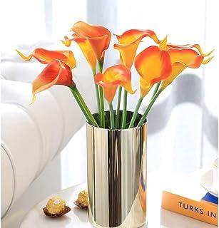 Satyam Kraft 10 Pcs Artificial Flower Rubber Lily Sticks for Bouquet Wedding Decoration, DIY Artificial Garland Supplies L...