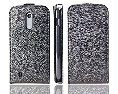 caseroxx Flip Cover für Archos 50C Neon, Tasche (Flip Cover in schwarz)
