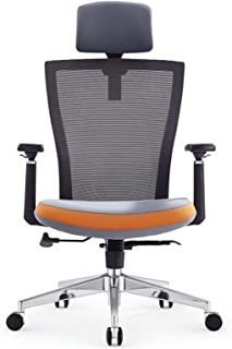 MHIBAX Gaming Chair Office Chair Mesh Liftable Swivel Chair with Armrests Simple Adjustable Desk Chair with Casters Desk C...