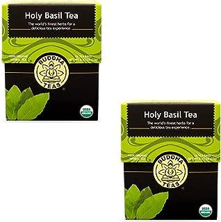 Organic Holy Basil Tea - Kosher, Caffeine Free, GMO-Free - 18 Bleach Free Tea Bags(Pack of 2)