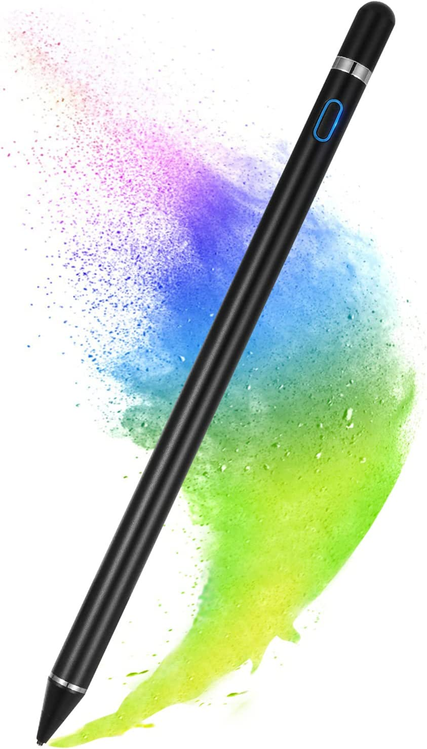 Stylus Pen for Touch Screens, Active Pen Digital Pencil Fine Point Compatible with iPhone iPad and Other Tablets (Black)