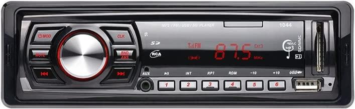 Bluetooth coche estéreo receptor de audio digital estéreo Radio de coche estéreo de coche in-dash Single DIN Radio de coche, Puerto USB/Ranura para tarjeta FM mando a distancia incluido