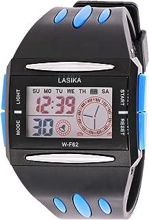 ساعة يد لاسيكا للجنسين بمينا رمادي وسوار من البولي يوريثين - WF062