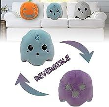 Genetic Los Angeles Double-Sided Flipped Plush Toys,Halloween Ghost/Pumpkin Reversible Luminous Plush Dolls Stuffed Animal...