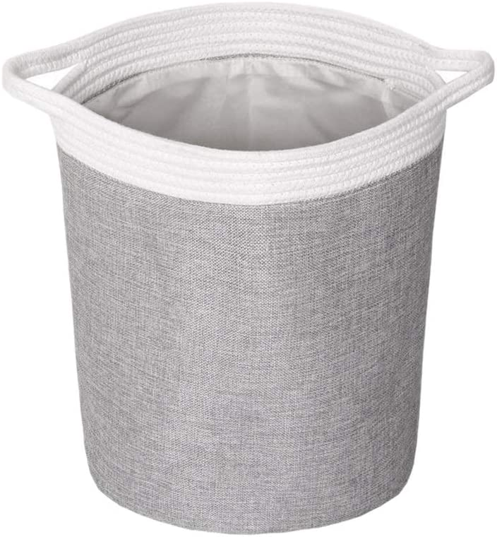 POUYTB Freestanding New Sale item York Mall Laundry Hamper Large Clothes Bas Collapsible