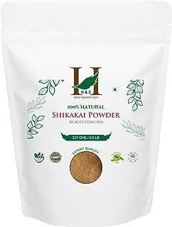 H&C- 100% Natural Shikakai Powder for Hair (227g / 0.5 LB/ 08 oz) - Hair Conditioning Rejuvenate from Indian Ayurveda