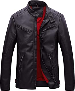 Premium Wool Blend,Fashion Autumn Winter Casual Pocket Button Thermal Leather Jacket Top Coat