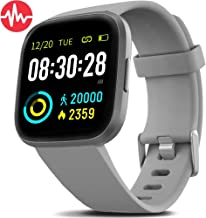 FITVII Health & Fitness Smart Watch with Blood Pressure Heart Rate Monitor, ip68..