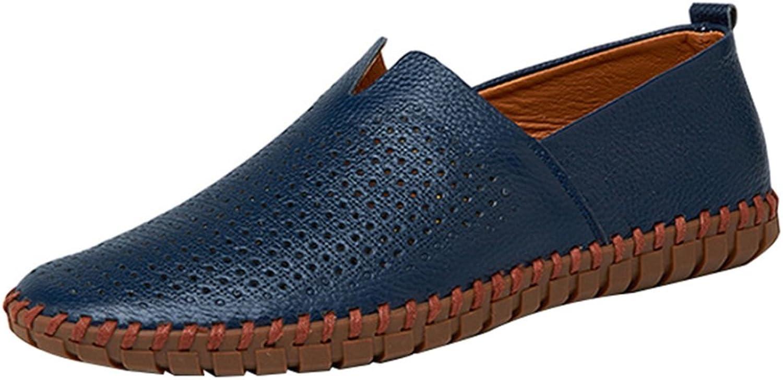 WWJDXZ Turnschuhe Unisex-Erwachsene Männer Casual Komfortable Atmungsaktive Faule Faule Faule Schuhe Segelschuhe Sandalen Fahren Schuhe Vier Jahreszeiten Lofo Schuhe (Farbe   Blau1, größe   39EU)  0295cb